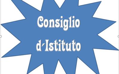 Convocazione Consiglio d'Istituto DEL 3 GIUGNO 2021